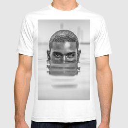 The Swimmer; African American Male portrait black and white photography - photographs wall decor T-shirt