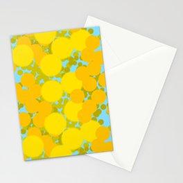 Yellow optimistic polka dot pattern Stationery Cards