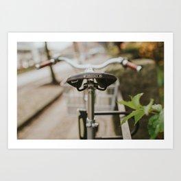 Brooks Bike in Gothenburg  Art Print
