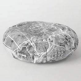 San Francisco City Street Map Floor Pillow