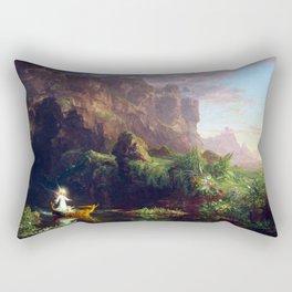 Thomas Cole The Voyage of Life Childhood Rectangular Pillow
