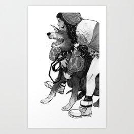 Bite Me (Doberman) Art Print
