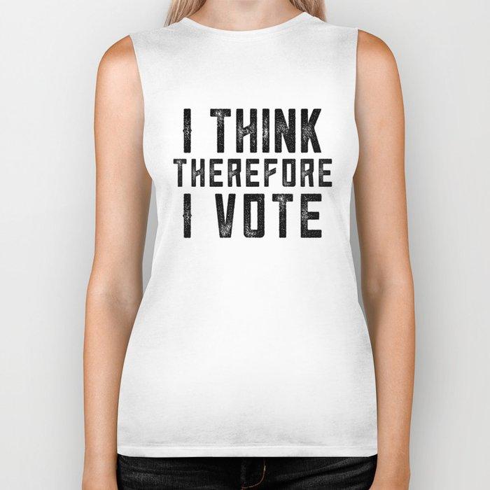 I Think Therefore I Vote Biker Tank