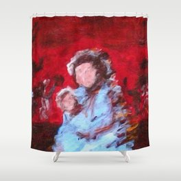 Instincts of Conflict Shower Curtain