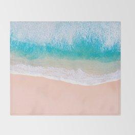 Ocean in Millennial Pink Throw Blanket
