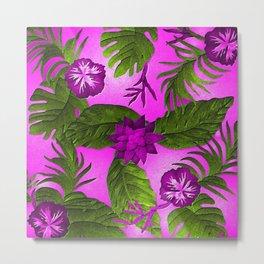 Tropical in Purple Metal Print
