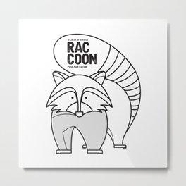 Raccoon, Wildlife of America Metal Print