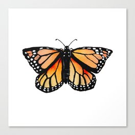 Watercolor Monarch Butterfly Canvas Print