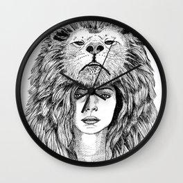 Lion Lady Wall Clock