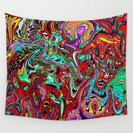 Crowded place Wall Tapestry