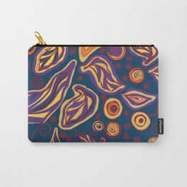 Doodle leaves and polka dots to holiday gifts - colorful vibrant Carry-All Pouch