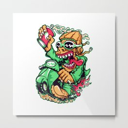 GREEN - Scooter Metal Print
