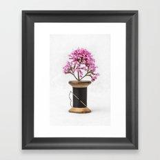 Wooden Vase Framed Art Print