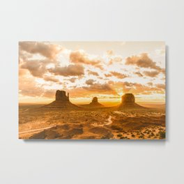 Southwest Wanderlust - Monument Valley Sunrise Nature Photography Metal Print
