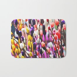 Abstract Pussy Willows Bath Mat