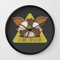 gizmo Wall Clocks featuring gizmo by Eva Puyal