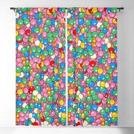 Bubble Gum Balls Juicy Tropical Fruity Blackout Curtain