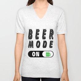 Beer mode on  - I love beer Unisex V-Neck