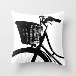 Vintage Bicycle Decor | Bicyclist | Biking Life | Bicycle Art Throw Pillow