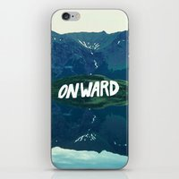 onward iPhone & iPod Skins featuring Onward by Good Sense