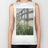 rustic Biker Tanks featuring Rustic Fence by Pure Nature Photos
