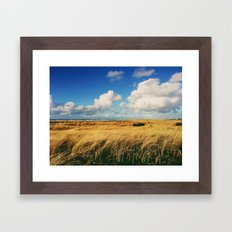 Clouds Over Windy Field (Taken with iPhone) Framed Art Print