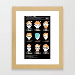 Know Your Nerds Framed Art Print