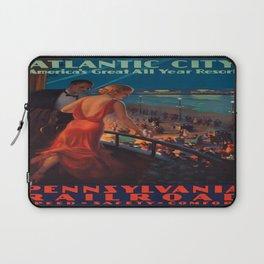Vintage poster - Atlantic City Laptop Sleeve