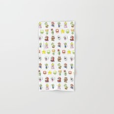 Mario Characters Watercolor Geek Gaming Videogame Hand & Bath Towel