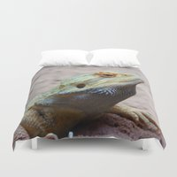 lizard Duvet Covers featuring Lizard by WonderfulDreamPicture