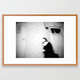 I follow you in the street, sometimes. Framed Art Print
