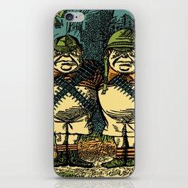 Retro Tweedle Guns iPhone Skin