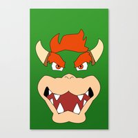 mario bros Canvas Prints featuring Bowser Super Mario Bros. by JAGraphic