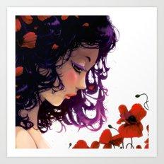 Les fleurs rouges... Art Print
