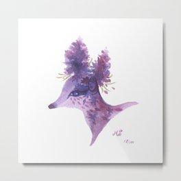 100 days of Accidental Creatures: No.18 Purple Deer Metal Print