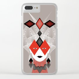 The Queen of diamonds Clear iPhone Case