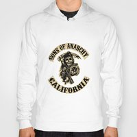 sons of anarchy Hoodies featuring Sons of anarchy Motorcycle club by OverClocked