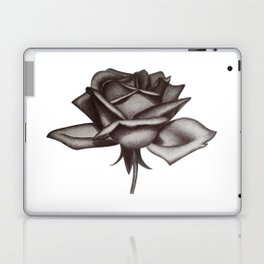 Black and White Rose in Ink Laptop & iPad Skin