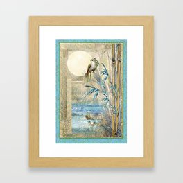 Bamboo Moon with One Framed Art Print