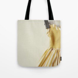 Doll Closet Series - Mustard Stripe Dress Tote Bag
