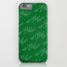 Make A List and Check It Twice - Green iPhone Case