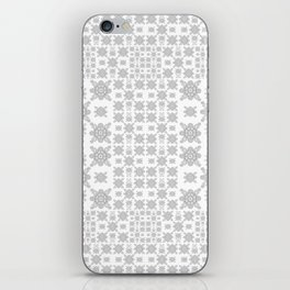 Simple Elegant Black and White Fractal Square Mandala iPhone Skin