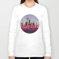 seattle Long Sleeve T-shirts featuring Seattle by WyattDesign