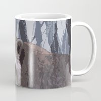 racoon Mugs featuring little racoon by ruth ball illustration