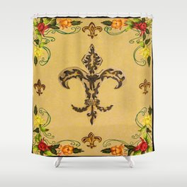 Fluer de lis (warm) Shower Curtain