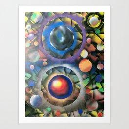 Colorful Cosmos Art Print