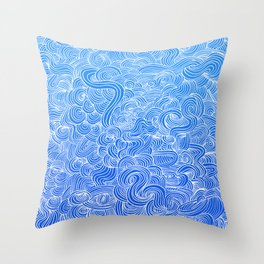 Swim at the Sea Throw Pillow