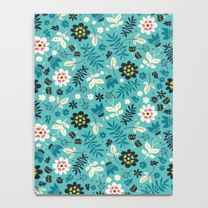 Fresh Blossoms (Greens) Notebook