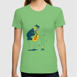 Man playing the saxophone T-shirt