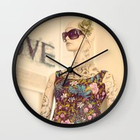vogue Wall Clocks featuring Vogue by Carol Knudsen Photographic Artist